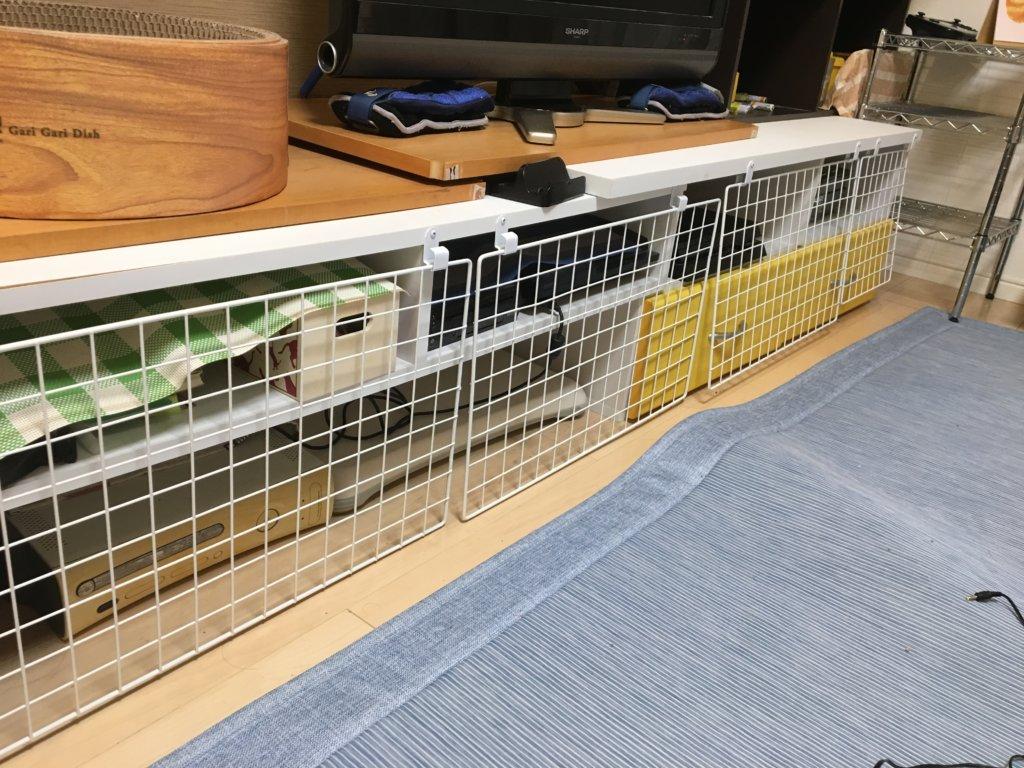 猫 侵入 防御 壁 テレビ台