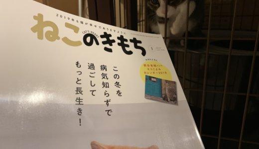 【ねこのきもち(2019/1月号)】付録は「岩合光昭さんのネコこよみカレンダー2019」