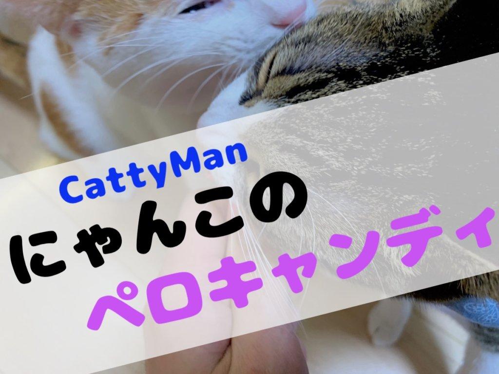 にゃんこのペロキャンディ クリーミーリッチ cattyman キャッティーマン おやつ キジ白 三毛猫
