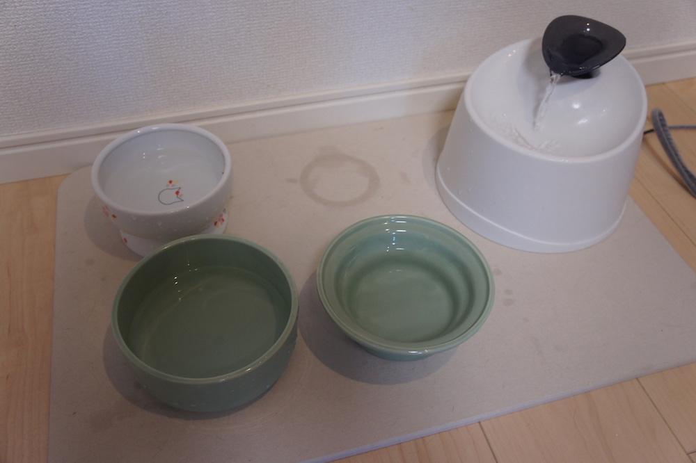 珪藻土マット バスマット 水飲み場 猫 ウォーターボール 給水器