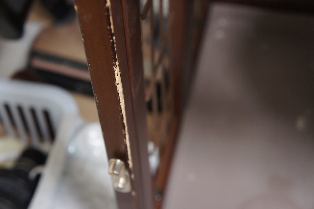 三段ケージ キャットケージ ウッドフレーム 木製 レビュー 感想 一年使用 猫 三毛猫 キジ白