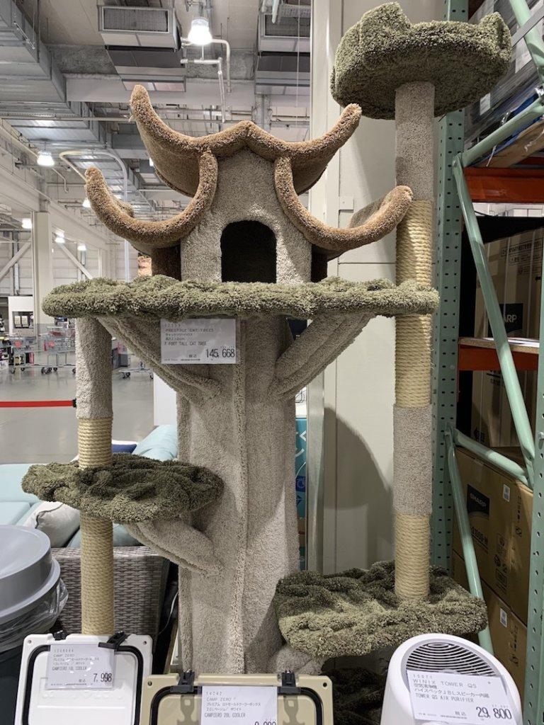 コストコ キャットタワー 猫