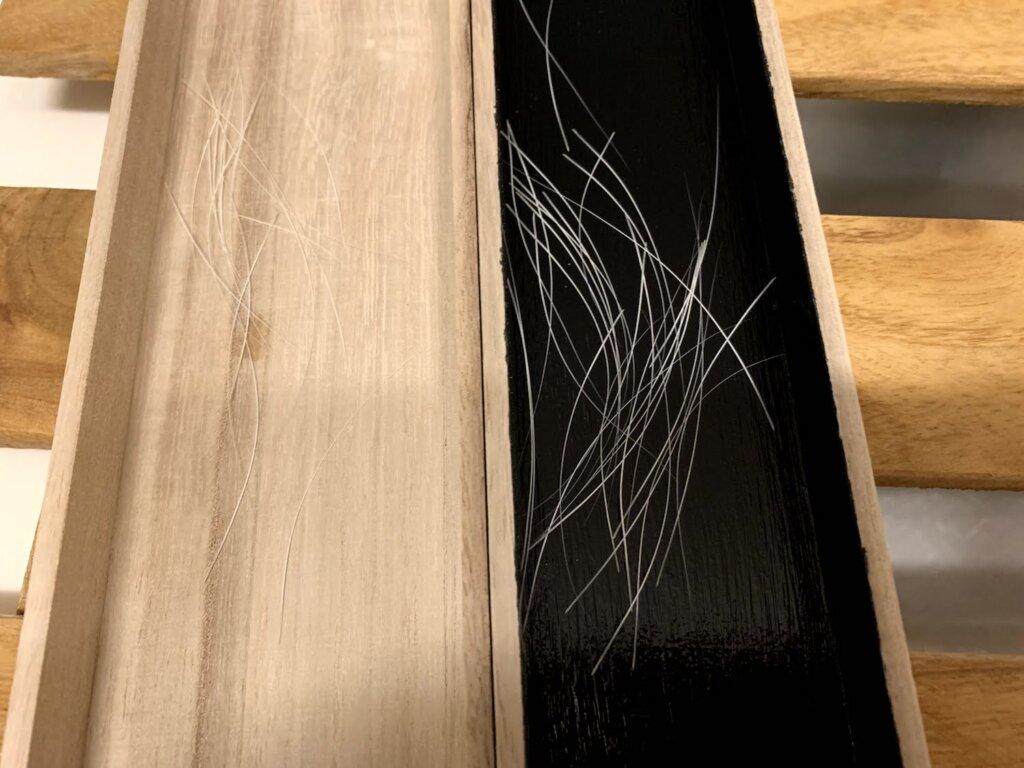 おヒゲケース 猫 髭 DIY 塗装