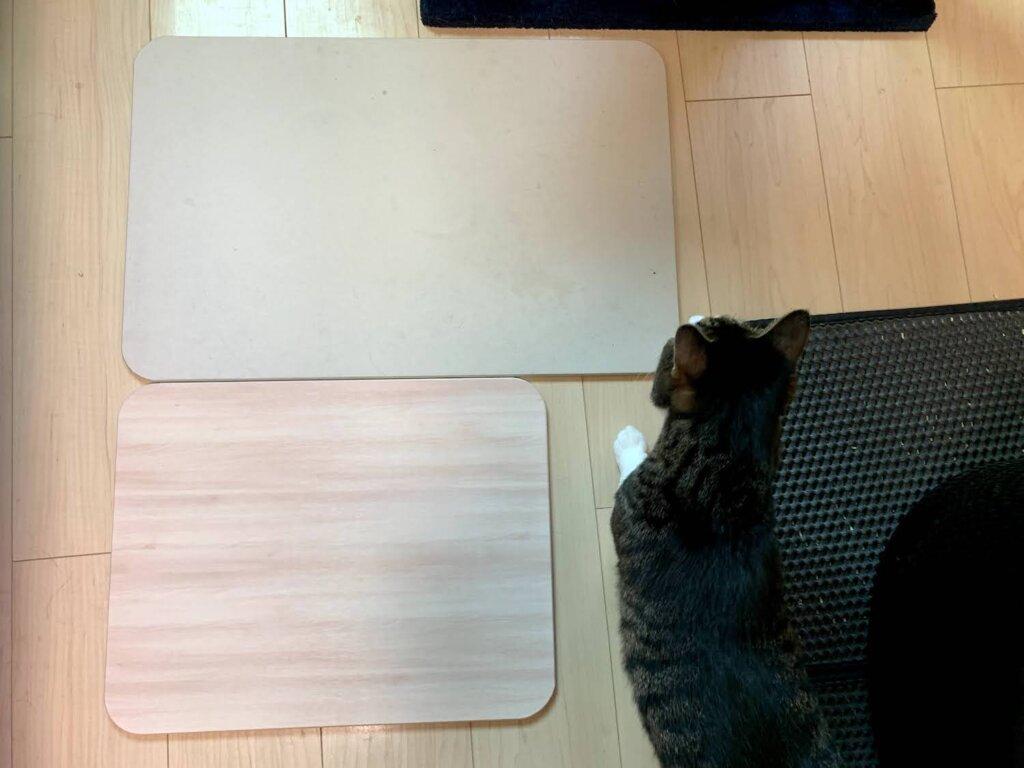 猫 珪藻土マット バスマット アイリス オーヤマ 乾燥 感想 レビュー 評価 木目