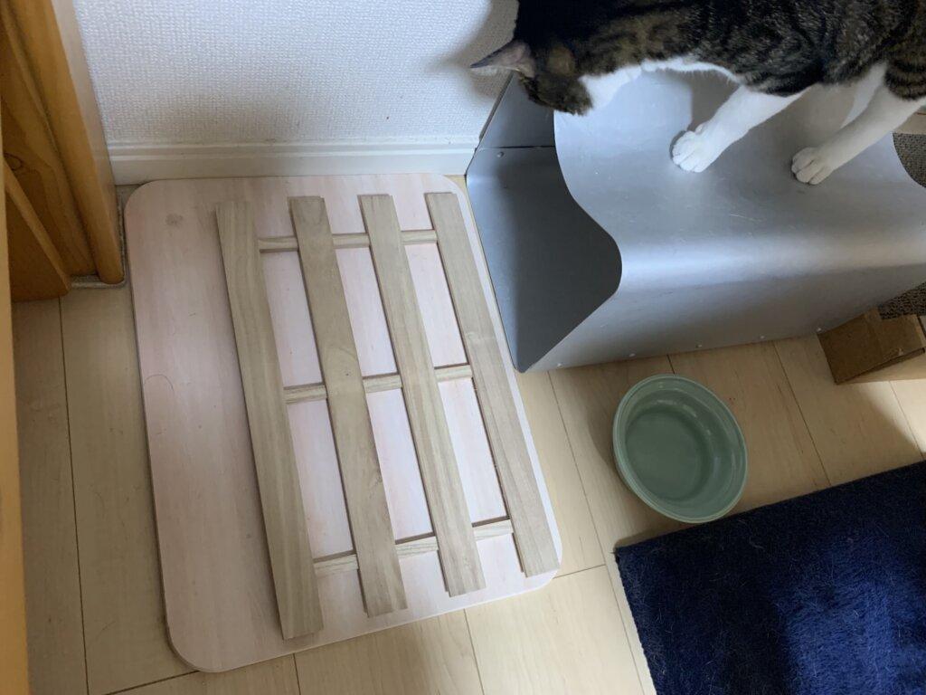 すのこ 猫 ネコ カビ対策 珪藻土 キジ白